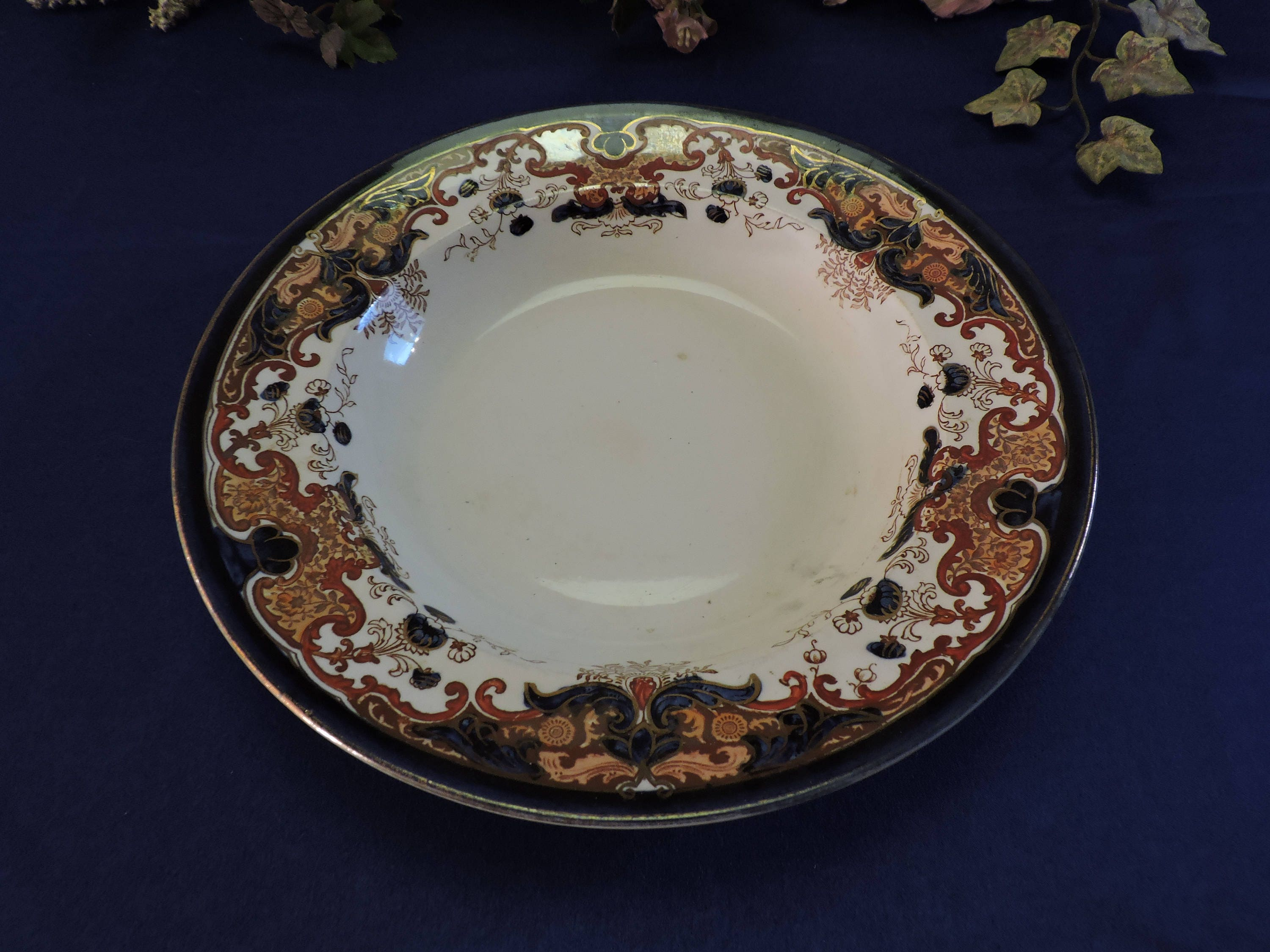 Rare Booths Silicon China England Lucania Pattern Large Rim Soup ...