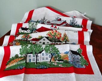 Startex Towel Four Seasons Print Linen Cotton Blend