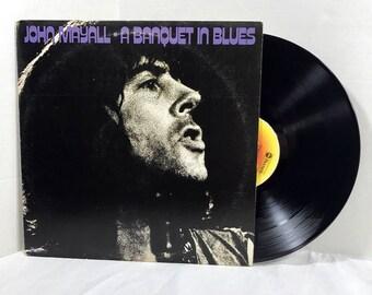 John Mayall A Banquet In Blues vinyl record 1976 Blues Rock EX