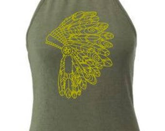 DIY Iron On Transfer Indian Headdress Native Americans Print Heattransfer | Various colors & sizes available