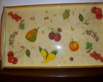 Great tray for table, decorative fruit, coffee or tea.