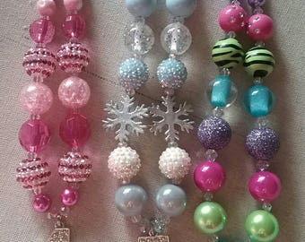 Birthday /Age prop Dress up Bubble Gum Bead Necklace **you pick**