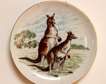 Westminster fine china Australiana Australian kangaroo wildlife plate