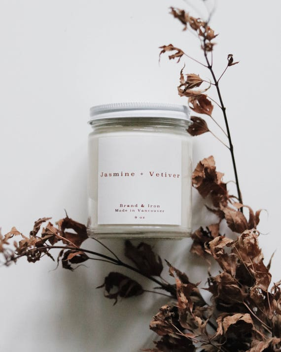 Jasmine + Vetiver candle