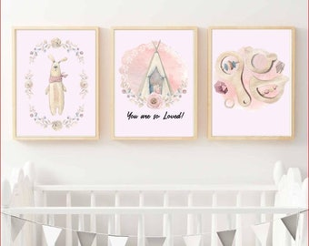 Nursery Wall Art - collection of 3 - You are so Loved
