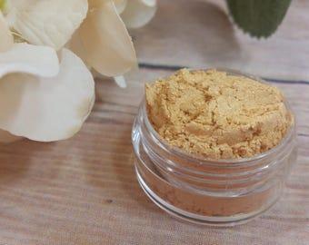 Gold Eyeshadow - Mineral Eyeshadow - Mineral Makeup - Natural Makeup - Organic Makeup - Eye Shadow - Tan Eyeshadow - Yellow Eyeshadow