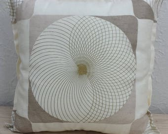 Funky 50's retro fabric pillow