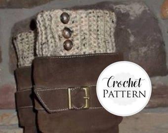 Reversible Boot Cuffs CROCHET PATTERN - Button Boot Cuff Pattern - Boot Cuffs - Boot Topper - Crochet Boot Cuffs - Versatile Cuffs