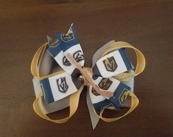 Las Vegas Golden Knights hair bow