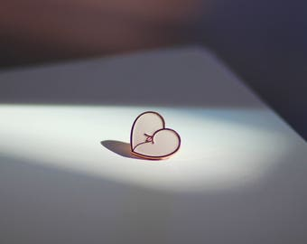 Pink Booty Heart Enamel Pin - mature