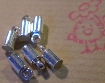SET of 6 caps on silver cord