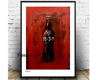 Bottled  コカコーラ Limited edition, fine art Giclee print
