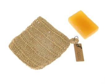 Tawashi Scrubber, exfoliating bath scrub or household cleaning, kitchen scrub,  eco-friendly natural scourer