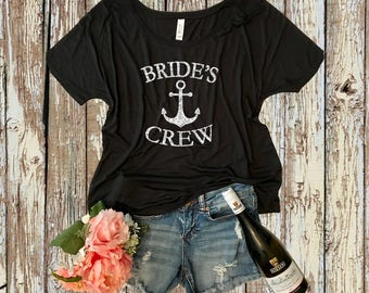 Brides Crew Anchor Flowy Tee