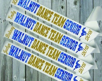WHITE SASH Dance Team Mustangs