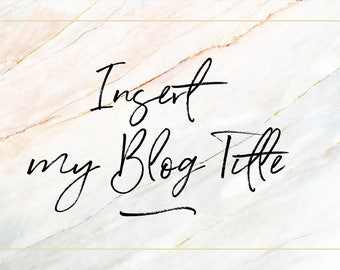 Blog Add on - Insert My Blog Title