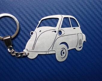 BMW Isetta Personalized Key Chain, Car Keychain, Keychain For BMW Isetta,  Custom Keychain