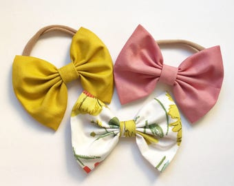 Pops of Color: Baby Bow Set