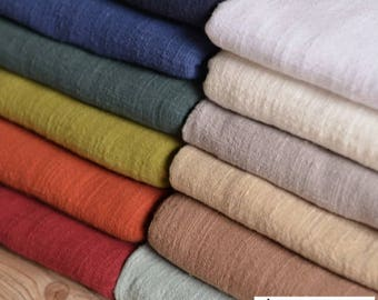ON SALE Pure Color Linen Cotton Fabric, Soft Fabric, Baby Clothes Fabric, Home Decor-130cm wide