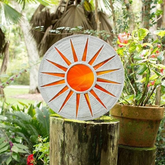 Bright Orange Sun Stepping Stone #616