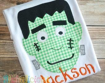 Frankenstein Applique, Halloween Applique, Frankenstein Shirt, Frankenstein