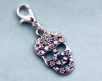 Sugar Skull Charm, Add a Charm, Skeleton Charm