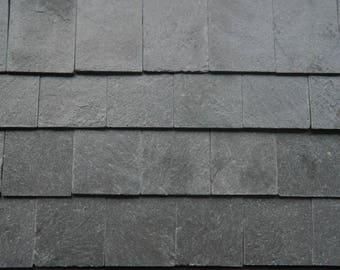 100 1:12th Scale MINIATUREBRICKSCOM REAL Slate Miniature Dolls House Roof Tiles