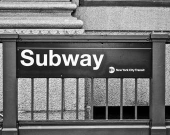 New York Subway Photograph