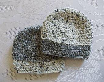 Twin boy hats Wool twin hats Gray twin hats Twin boy outfits Crochet twin hats Baby boy hats Twins winter hats Twin boy beanies Twin hat set