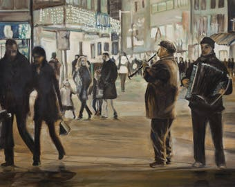 Oil Painting Street Music