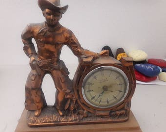 Vintage Cowboy Clock