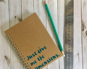 Builders book, dad present, quirky notebook, lined notebook, A6 notepad, pocket notepad, A5 notebook, give me the dimensions