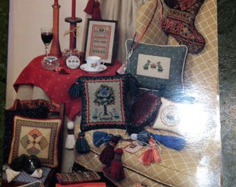 Vintage 1988  Tapestries & Tassels Booklet- Designed by Liz Turner Diehl - Counted Cross Stitch Patterns/Chart/Graph