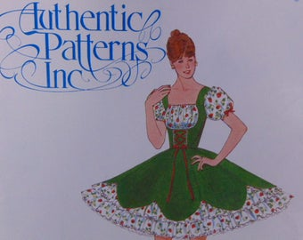 Vintage Pattern, Square Dancing  Pattern, Authentic Pattern,  One Piece Square Dance Dress, ,  Various Sizes