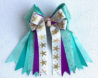 Horse Show Hair Bows/Ariel Hair Accessory/Beautiful gift