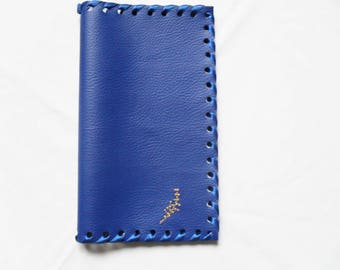 cases checkbooks leatherette soft embroidered blue