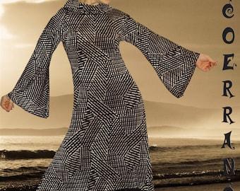 Asymmetrical dress, Bohemian dress, ethnic dress, tunic 'Chocolate lines'