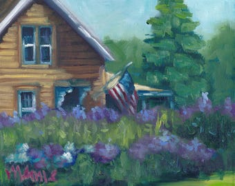 In the spotlight,  oil painting, ready to hang, original art, americana