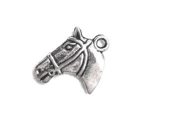 Set of 3 horse head charms