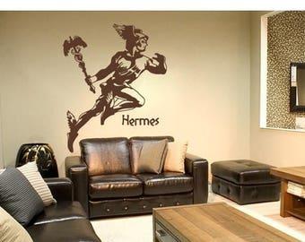 20% OFF Summer Sale Hermes wall decal, sticker, mural, vinyl wall art