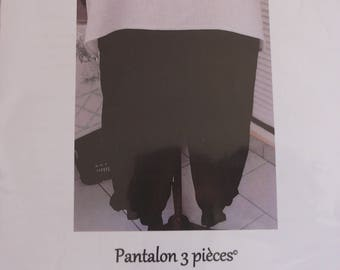 Pattern to make pants size M, L and XL