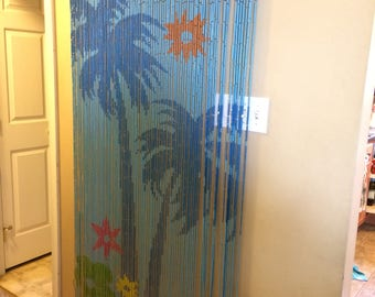 Beautiful Painted Bamboo Doorway Curtain