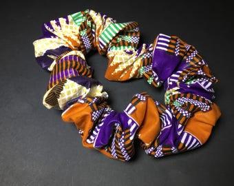 Chouchou taille XL tissu africain wax pour dreadlocks cheveux afri rasta ethnique