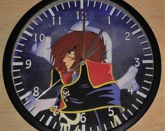 Captain Harlock wall clock