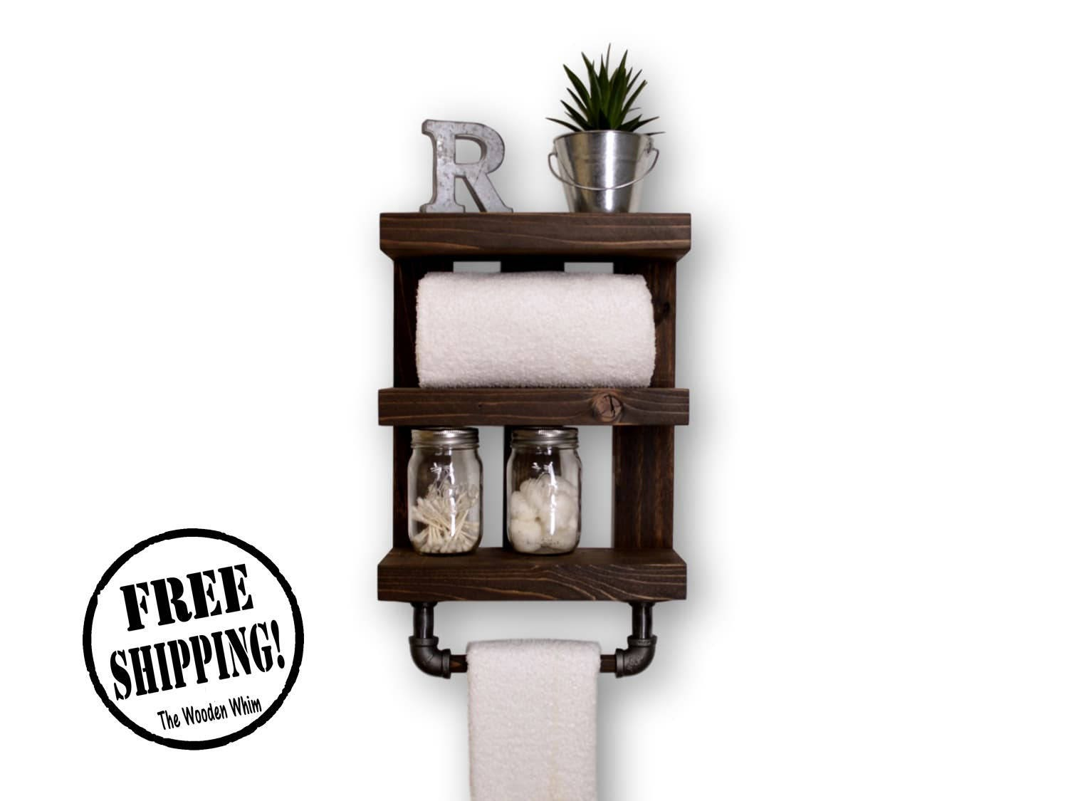 Three Tier Bathroom Shelf Three Tier Bathroom Shelf With Towel Bar