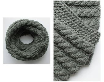 knitted snood scarf