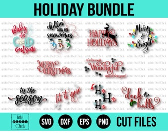 Christmas SVG Bundle, SVG Bundle, Christmas SVG, Svg, Merry Christmas Svg, Snowman Svg, Merry and Bright Svg, Let it Snow Svg