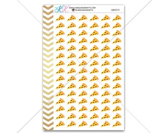 Pizza Stickers for planner, calendar! Functional planner stickers meal sticker functional sticker food sticker #SQ00276