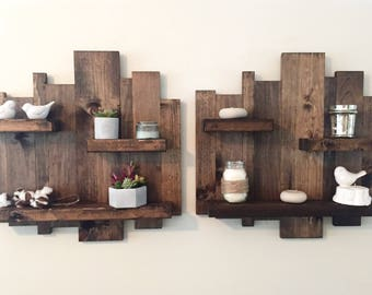 pallet furniture etsy. rustic wall shelf reclaimed wood pallet floating furniture etsy o