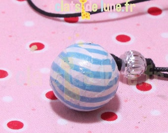 Bola pregnancy genuine turquoise and white stripe pattern